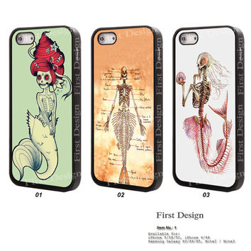 Resin iPhone 5S 5 case, iPhone 5C Case, iPhone 4S 4 Case, Samsung Galaxy S3 S4 S5 Case, Galaxy Note 2 Note 3 Case The little mermaid - 1