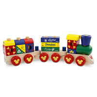 Mickey Mouse Wood Blocks Stacking Train Set | Disney Store