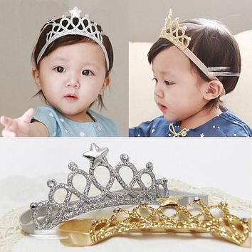 1 PC Girls Toddler Infant Newborn Princess Headbands Baby Hairband Headwear Bow Crown Cute Hair Band Accessories