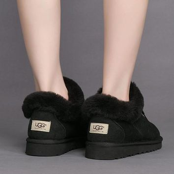 UGG Women Fur Leather Shoes Snow Boots Flats Shoes