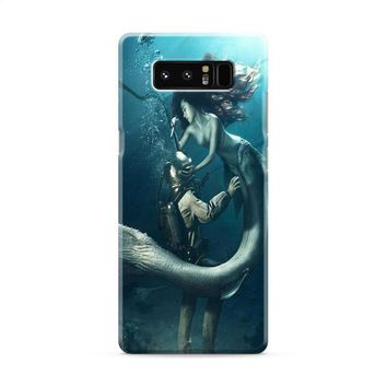DIVER AND THE MERMAID Samsung Galaxy Note 8 Case