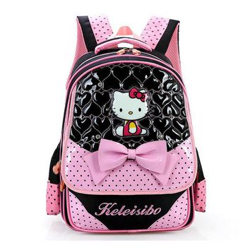 Hello Kitty Primary School Backpack For Girls Fashion School Bag Children Lovely Bookbag kids Schoolbag Mochila escolar Rucksack