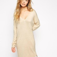 ASOS | ASOS Sweater Dress With V-Neck in Fine Knit at ASOS