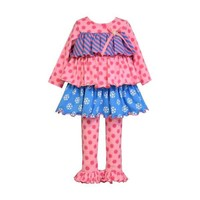 Bonnie Jean-Tiered Knit Dress, Pink-Multi