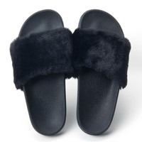 Fluffy fur Slipper Slides for Women 2 Colors
