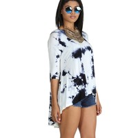 Promo-navy Cloud Nine Tie-dye Tunic