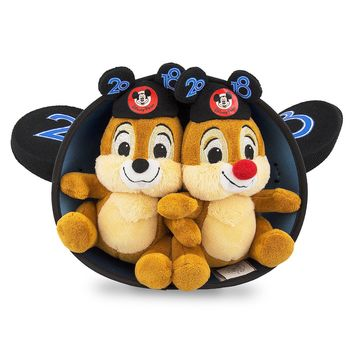 Disney Parks Chip 'n Dale Ear Hat Plush 2018 New with Tag