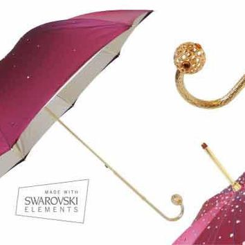Pasotti Burgundy Swarovski Umbrella