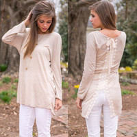 Round-neck Slim Lace Patchwork Long Sleeve T-shirts [6338697348]