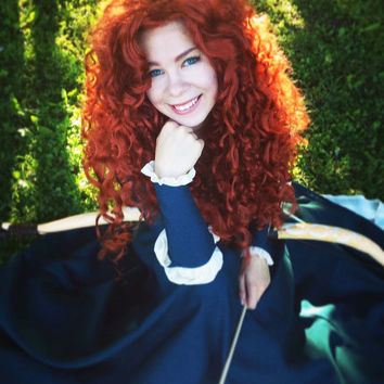 Merida Lace Front Wig from Brave Halloween costume Adult