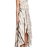 Haute Hippie - Printed Silk Draped Gown - Saks Fifth Avenue Mobile