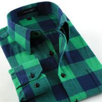 Flannel Plaid men casual shirts