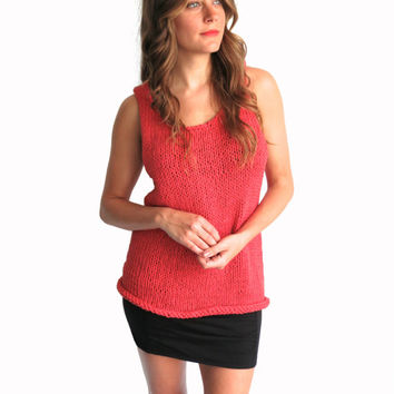 Knit Tank Top Casual Everyday Simple Loose // Saturday Tank in Holbox // Many Colors Available