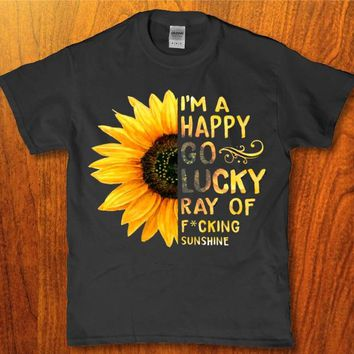 I'm a happy go lucky ray of fking sunshine Women's t-shirt