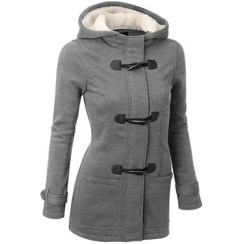 92078b8c72e9 Shop Wool Blend Hooded Coat on Wanelo