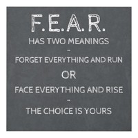 Fear Has Two Meanings Panel Wall Art