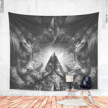 Rhino resistance Wall tapestry