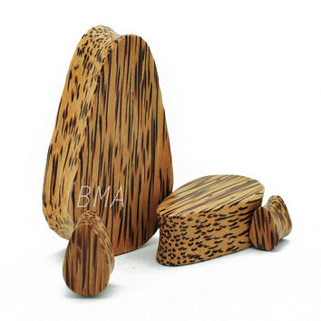 Coconut Wood Teardrop Plugs (10mm-51mm)