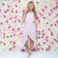 Couture Crush Hi Low Dress In Pink