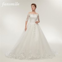 Lace Train Wedding Dresses Long Sleeve Wedding Gowns