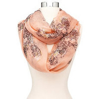 Floral Cross Infinity Scarf: Charlotte Russe