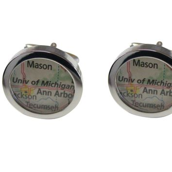 University of Michigan Map Cufflinks
