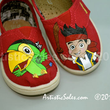It's Jake! from Jake and the Neverland Pirates Themed Custom TOMS Shoes - Tiny TOMS