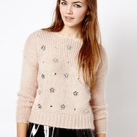 New Look Floral Gem Jumper