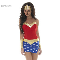 Charmian Sexy Women Cosplay Costume Super Heroine Costume Adult Fantasias Superhero Halloween Costume for Women