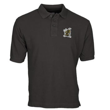 West Virginia State Yellow Jackets Team Mark Polo - Charcoal