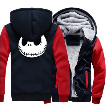 Jack Skellington Jacket Sweatshirt Letterman