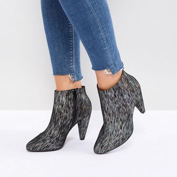 New Look Wide Fit Printed Cone Heeled Ankle Boot at asos.com