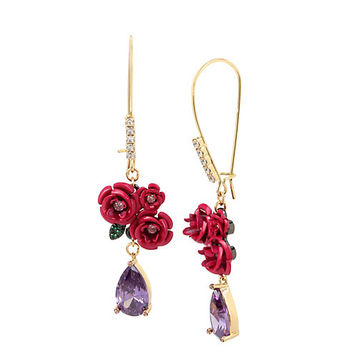 IN LOVE FLOWER TEARDROP EARRINGS: Betsey Johnson