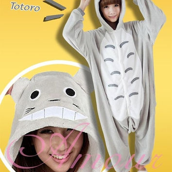 Christmas Gift My Neighbor Totoro Kigurumi Pajamas Adult Anime Cosplay Halloween Costume = 1930064708