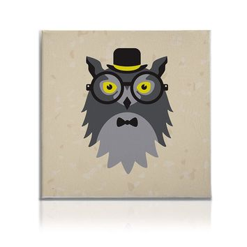 Hipster Animals Pictures Canvas Wall Art Painting Prints Wise Owl