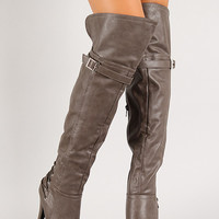 Corset Thigh High Platform Boot