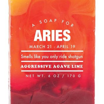 Aries Aggressive Agave Scented Soap - Smells Like You Only Ride Shotgun