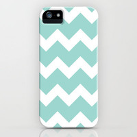 Chevron - Aqua iPhone Case by Valerie Hoffmann | Society6
