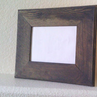 Rustic Wood Picture Frame - Weathered Gray 5x7 Frame - Simple Shabby Chic Country Western Home and Wedding Decor