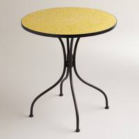 Yellow Cadiz Mosaic Bistro Table - World Market