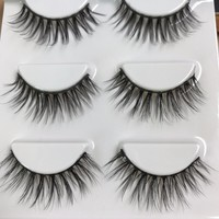 HBZGTLAD Sexy 100% Handmade 3D mink fake lashes long makeup 3d mink lashes eyelash extension mink eyelashes for beauty tool