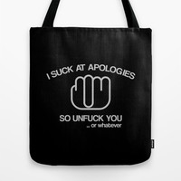 Unfuck You Tote Bag by Galen Valle