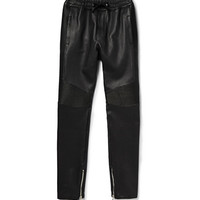 Balmain - Slim-Fit Leather Sweatpants | MR PORTER