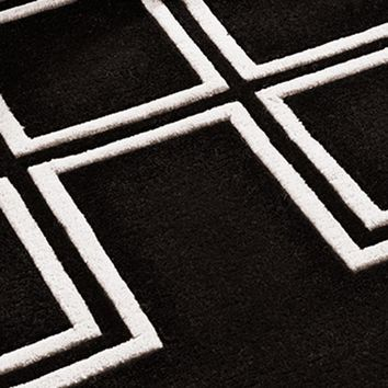 Black & Off-White Rug | Eichholtz Caton (10x10)