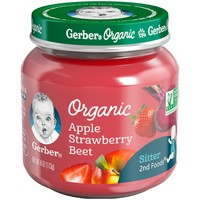 Gerber Organic 2nd Foods Baby Food Apple Strawberry & Beet - 4oz