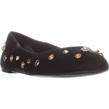Nine West Morton Ballet Flats, Black/Black, 9 US