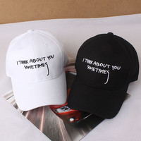 Embroidery Korean Cap Couple Sports Hats Baseball Cap [10683099143]