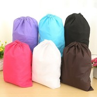 6 Pcs Set Non-Woven Shoe Bags with Drawstring for Travel Carrying Portable Pull Double Rope of Shoes Dust Bag (Size: 40cm by 30cm, Color: Multicolor)