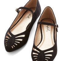 ModCloth Head of the Sass Flat in Black