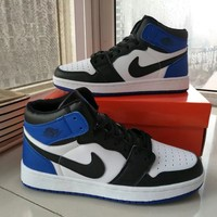 """""""Nike Air Jordan I"""" Unisex Casual Fashion Multicolor High Help Breathable Plate Shoes Couple Basketball Shoes Sneakers"""